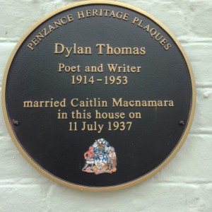July 2015 - Unveiling of the plaque which marks where Dylan Thomas was married.