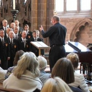 The choir performed a lunchtime recital in Chester Cathedral October 2015.